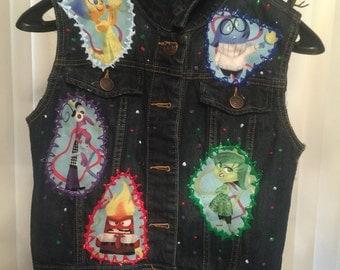 Inside Out inspired denim vest