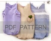 Venezia Romper PDF, Baby Girl Romper PDF, baby patterns, summer baby PDF, baby sewing patterns, toddler pattern, bubble romper pdf, baby pdf