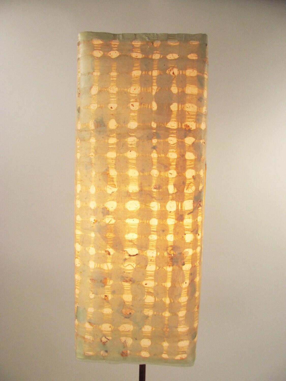 Handmade Wall Lamp Shades : Tall Yellow Lamp Handmade Paper Lamp Lamp Shade Lamp