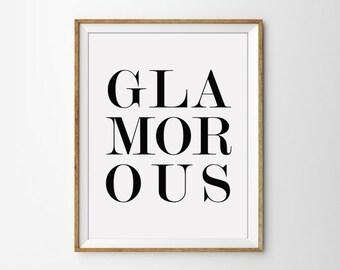 Glamorous Black and White Typography Quote Print. Modern Wall Art. Minimalist Home Decor. Chic Decor. Teenager Print. Dorm Room Art.
