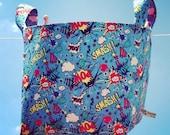 Superhero Nappy Storage Baskets Toy Storage Nursery Storage