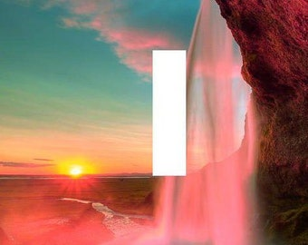Waterfall Sunset Iceland light switch plate beautiful elegant travel wall art living room bedroom home decor gift made in the USA