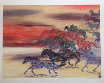 Running Horses Giclee Print