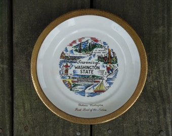 Washington State Souvenir Plate