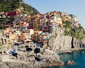Travel Photography, Manarola, Cinque Terre, Italy, Liguria Coast, Fine Art Print, harbor, fishing village, coastal village, quaint, picture