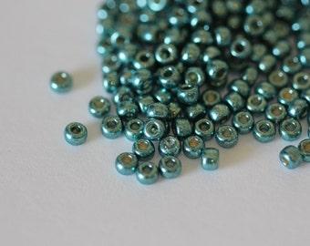8/0 Duracoat Galvanized Seafoam  #4217, Miyuki Seed Beads 16 grams (N-2D)
