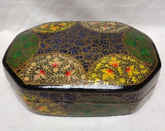 "Decorative Box with Nice Intricate Leaf Designs- 6x9"" VINTAGE"