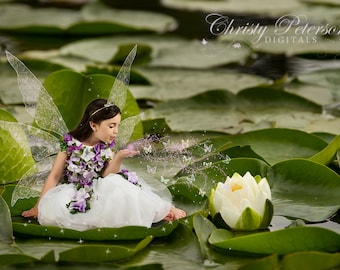 Lily Pads Digital Background for fairy composite pictures