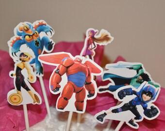 Big Hero 6 Cupcake Toppers Set of 12