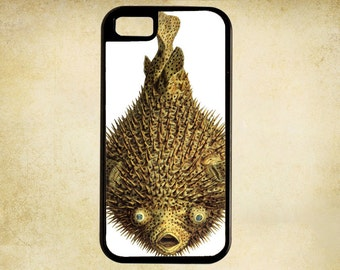 Brilliant Illustration of Bright Yellow Blowfish for i Phone Case 4, 4s, 5, 5C, 6, 6+ and Samsung Galaxy 3, 4, 5, 6, Edge