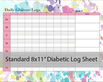 to Printable Childrens Diabetic Log, Blood Glucose Level Sheets ...