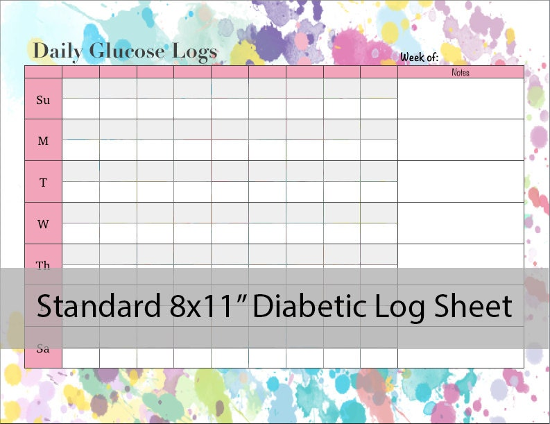 This is a photo of Old Fashioned Free Printable Blood Sugar Log