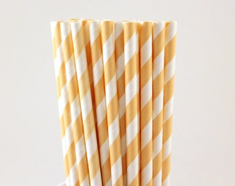 Peach Striped Paper Straws-Peach Straws-Striped Straws-Blush Straws-Wedding Straws-Party Straws-Mason Jar Straws-Shower Straws-Paper Straws
