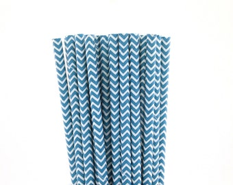 Teal Chevron Paper Straws-Teal Straws-Chevron Straws-Wedding Straws-Tea Party Straws-Mason Jar Straws-Party Straws-Cake Pop Sticks