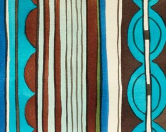 Alexander Henry - Nyanza Stripe - #8205B - Safari Pool