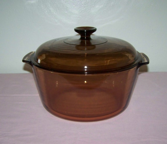 Corning Visions Amber Cookware 4.5 L By ThorolyModernVintage