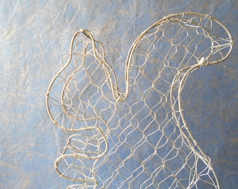 Lovely squirrel topiary frame, wire frame topiary squirrel shape plant shaper, topiary centerpiece.