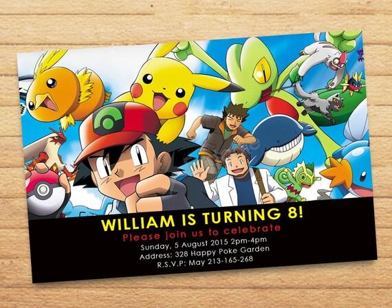 pokemon birthday pokemon party pokemon favor pokemon baby shower