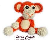 Crochet Pattern - Baby Monkey - Amigurumi Pattern - Crochet Monkey - Amigurumi Monkey - Gift for Baby - Gift for Child - Baby Shower