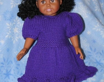 "Purple Party Dress for 18"" doll"