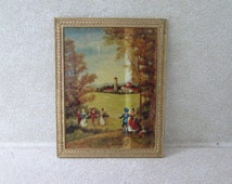 Petite Princess Fantasy Furniture Painting, Ideal Dollhouse Miniatures, Vintage Doll House Accessories