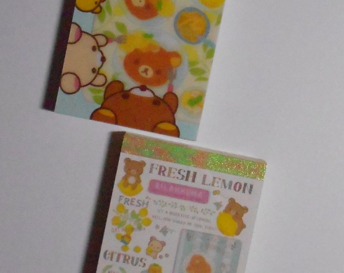 "San x Rilakkuma ""Lemon"" Mini Memo Set"