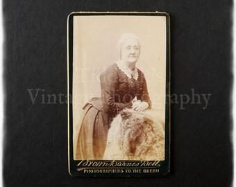 Carte de Visite CDV Photograph of an Old Lady