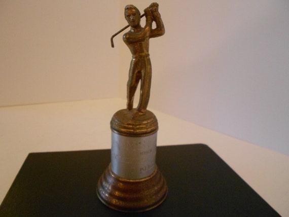 1950 inscribed mscc golf trophy consolation 3rd flight f