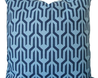 Navy and Blue Geometric-Designer Decorative Pillow Cover-Accent  Pillow-Sofa Pillow-Single or Double Sided