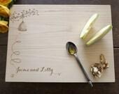 The Beekeeper's Daughter Getting Married Custom Cutting Board Wedding Present Bridal Shower Gift Honey Cheeseboard Kitchen Decor