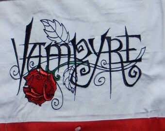 Vampyre Embroidered Pillowcase