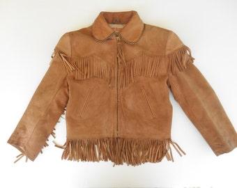 SALE - Vintage Child's Roy Rogers Leather Jacket