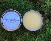 HONEY BEE MINE Vanilla & Organic Raw Honey Lip Balm Tin - 100% Natural with Essential Oil
