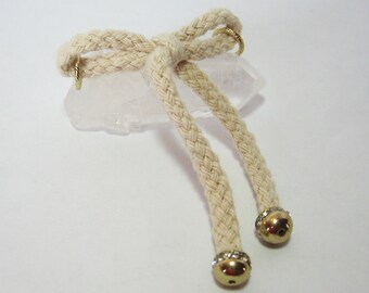 Natural Braided Rope Bow Embellishment - Beading Supplies