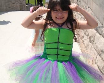 Incredible Hulk Costume//Incredible Hulk Tutu//Halloween Costume//Halloween Tutu//Hulk Girl//Hulk Woman