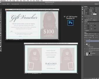 "8x4"" Gift Voucher Template - for Photoshop CS6"