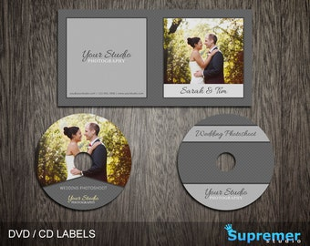 Wedding CD Cover Template - cd Label Template - dvd Cover Template PSD - dvd Label Template - cd Case Photoshop PSD Template CD003