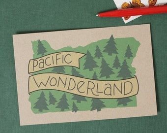 Pacific Wonderland Postcards  //  Set of 6  //  Illustrated Oregon Postcards