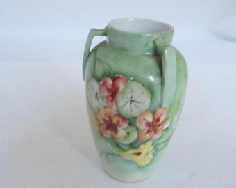 Antique Bud Vase, Antique Flower Vase, Early 20th Century Bud Vase, Cottage Chic, Handpainted Vase, Nippon
