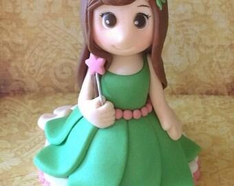 Fondant Fairy Cake Topper - 1 3D Fairy