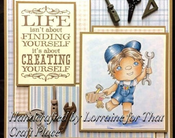 Daddys Little Helper - Little Bro Digital Stamp