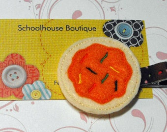 Halloween Sugar Cookie Felt Hair Clips - Felties - Feltie Hair Clip - Felt Hairbow - Felt Hair Clips - Felt Hair Clippie-Party Favor