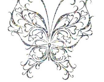 Custom Glitter Butterfly Car Decal
