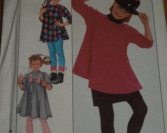 Girls Sizes 7-14, Simplicity 8817, UNCUT sewing pattern, Dress, top, pants, skirt, craft supplies