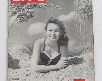 February 5,1945 LIFE Magazine-FLORIDA The Land of Sun & Fun Beaches Bathing Suits Pin-Up Girl-Collectible Book