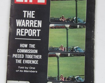 The Warren Report October 2,1964 LIFE Magazine-Time Lapsed Photos JFK Dallas Assination -Collectible Book