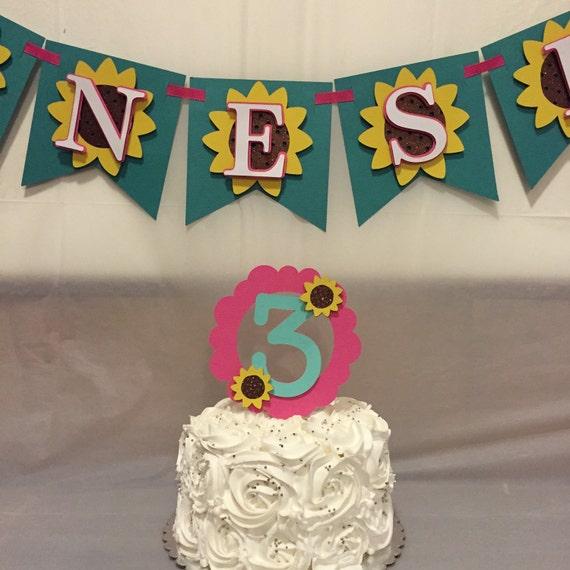 Etsy Frozen Cake Decorations : Sunflower/ Frozen fever cake topper it centerpiece