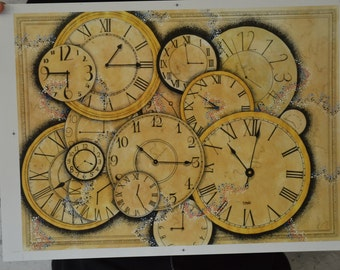 A3 print of analog clocks
