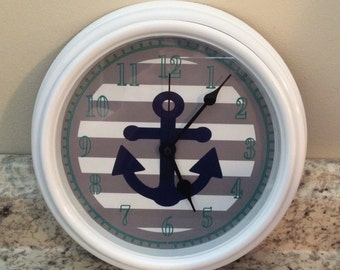 High Seas Anchor Nautical Wall Clock M2M Nursery Bedding Decor