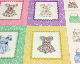 Panel Patchwork Quilting Fabric Timeless Treasures Paper Dolls Squares
